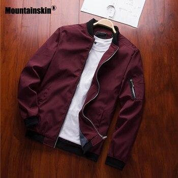 94e1dde10dce Mountainskin 2019 мужские куртки демисезонный повседневные пальто ...