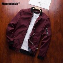 Mountainskin 2020 Mens Jackets Spring Autumn Casual Coats Bomber Jacket Slim Fashion Male Outwear Mens Brand Clothing 6XL SA585