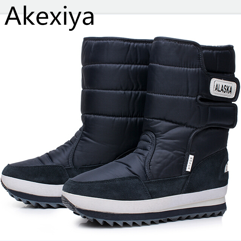 Akexiya New 2017 Winter Snow Boots Men OutDoor boots Warm Plush Fur Boots Waterproof Boots Plus