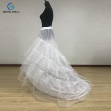 Wedding Accessories White Petticoat Veil Gloves For Ball Gown Mermaid