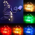 1M 10LED Copper Wire String Strip Fairy Lights For Christmas Waterproof