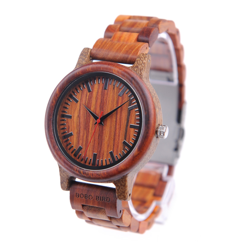 BOBO BIRD Wooden Watches Men Timepieces Wood Strap Japan Movement 2035 Quartz Wristwatch relogio masculino C-M17 bobo bird f08 mens ebony wood watch japan movement 2035 quartz wristwatch with leather strap in gift box free shipping