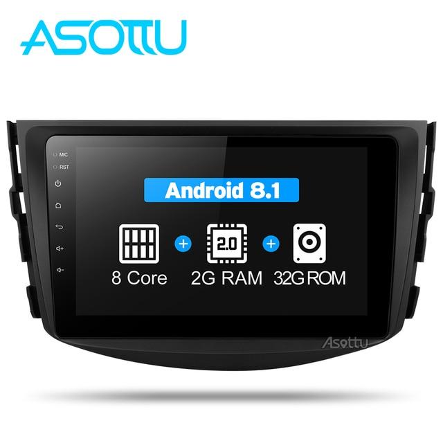 Asottu CRAV48060 Octa 8 Core DVD del coche de navegación GPS Player Android 8,1 reproductor de DVD del coche para toyota rav4 2007, 2008 2009, 2010, 2011,