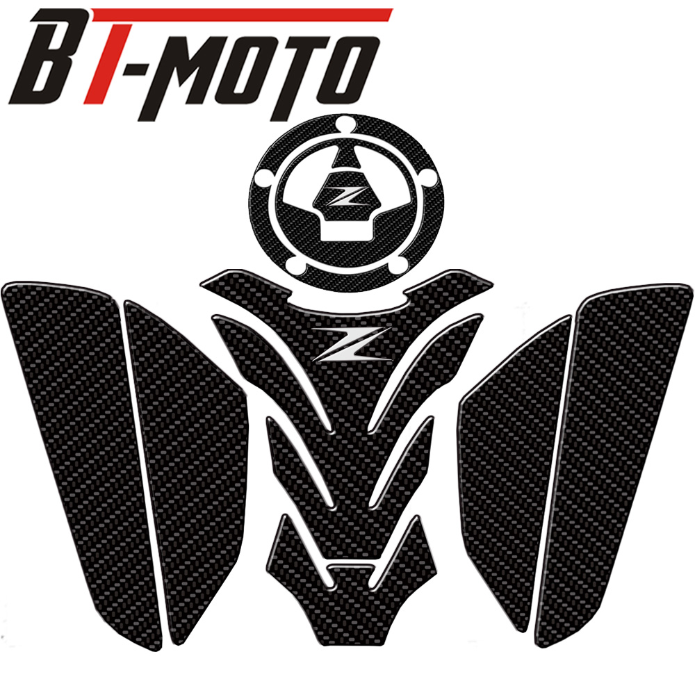 3D Motorcycle Accessories Real Tank Pad Gas Fuel Sticker Moto Decal Emblem Protector FOR Kawasaki Z800 Z750 Z1000