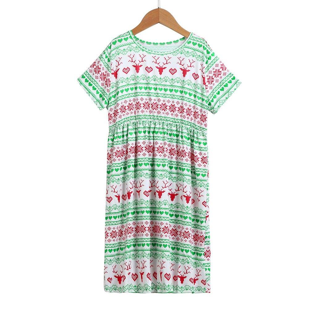 Girls Family Matching Christmas Pajamas Dress Santa Outfits Clothes Oct 13