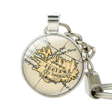 Iceland Country Map Keychains Pendant Iceland Europe Jewelry Friend Family Gift Idea Map Jewelry Key Holder Customized Key chain(China (Mainland))