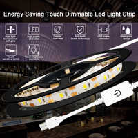 USB LED Strip Dimmable Kitchen Cabinet Light Tape 5V LED Ribbon Light Waterproof Fita LED Wardrobe Lighting Flexible Closet Lamp