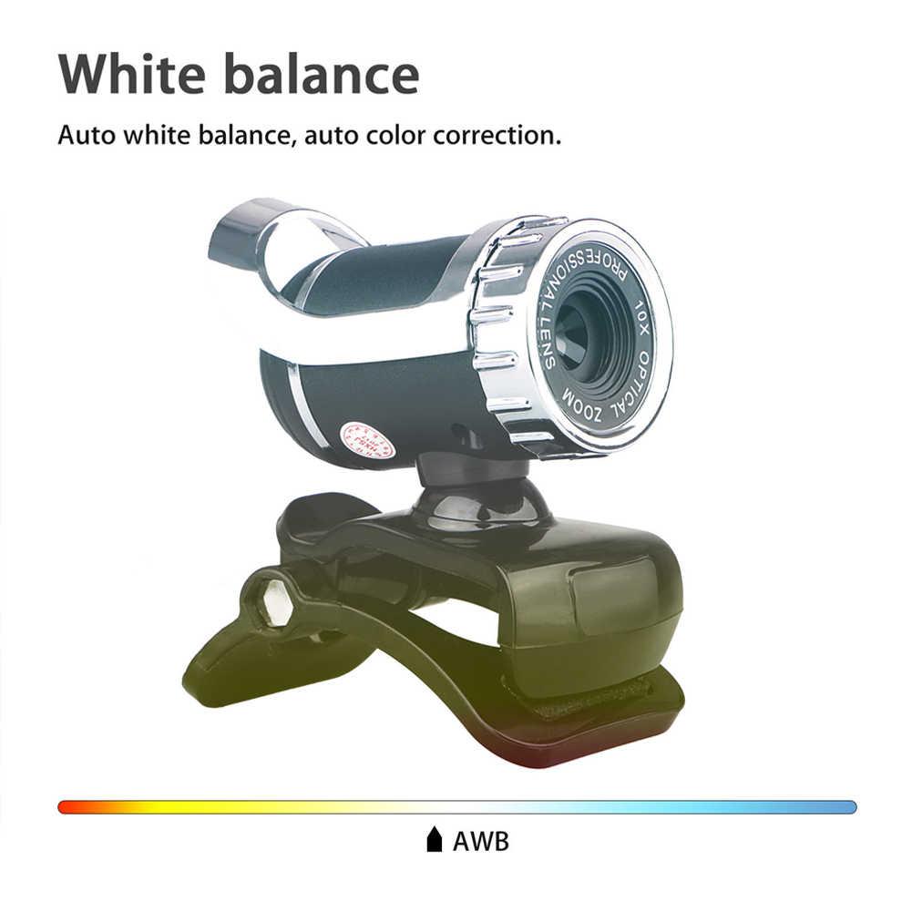 Веб-камера звукопоглощающий микрофон HD 12 мегапикселей ноутбук клип на USB 2,0 Поддержка Windows PC Настольный