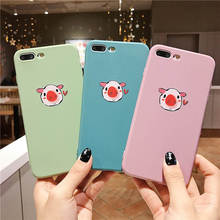 2019 Cartoon Embossed Pig Head For Iphone 6 6S 7 8plus X Xs Xr Xsmax Candy Color Silicone Phone Case