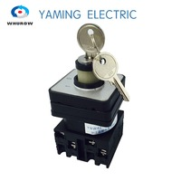 Free Shipping 1pcs Rotary Switch 3 Position 660V 20A 2 Phases Electrical Changeover Cam Switch With