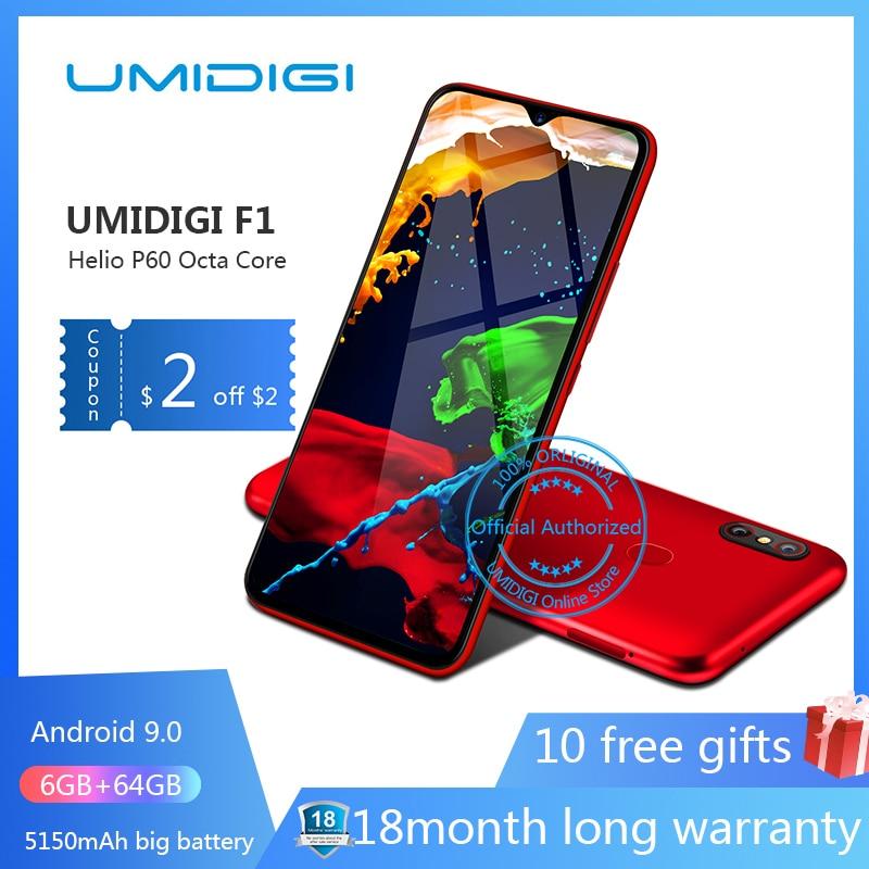 UMIDIGI F1 Android 9 0 6 3 FHD 128GB ROM 4GB RAM 5150mAh 18W Fast Charge