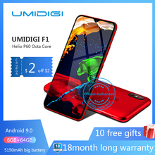 UMIDIGI F1 Android 9.0 6.3″ FHD 128GB ROM 4GB RAM 5150mAh 18W Fast Charge Smartphone nfc 4g unlocked mobile phone octa core cell