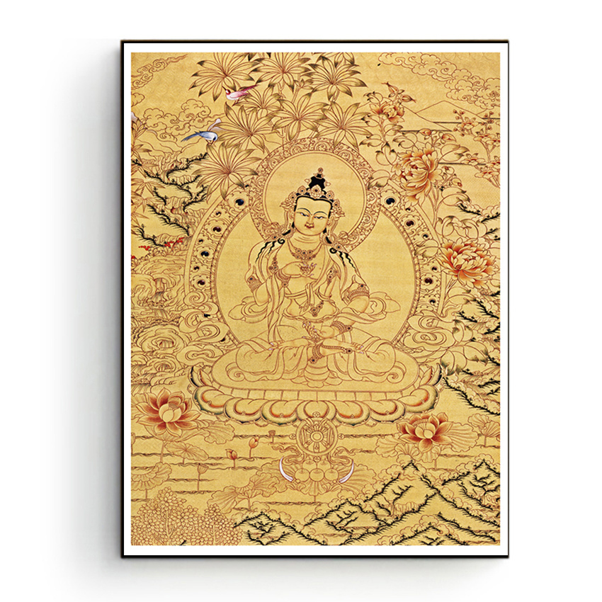 Buddhist Thangka Painting Canvas Printings HD Print on Canvas Modern ...