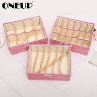 ONEUP Non woven Organizers Box For Underwear Scarf Socks Bra Organizer Storage Box Drawer Closet Home Storage Container Foldable