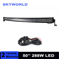 50 inch 288W Curved LED Light Bar Off road Car ATV Tractor Offroad 9 32V Combo Vehicle Lightbar 4x4 4WD