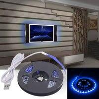 5 шт. гибкий светодиодный ленты лампы USB Светодиодные ленты огни SMD3528 300 см Украшение Света