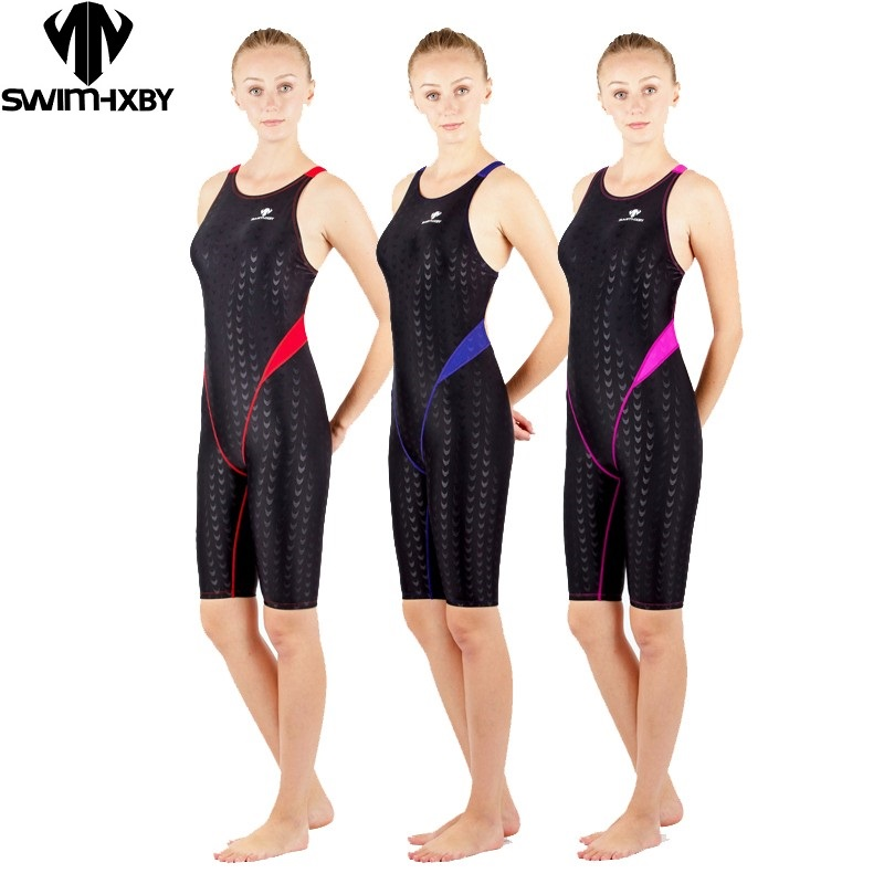HXBY Girls One Piece Suits Women Competitive Swimming One Piece Suits Swimsuit Sharkskin Arena Swimwear Women Swimsuits(China)