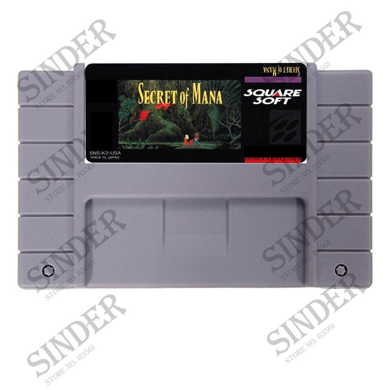 Secret Of Mana 16 bit Big Gray Game Card For NTSC PAL Game Player
