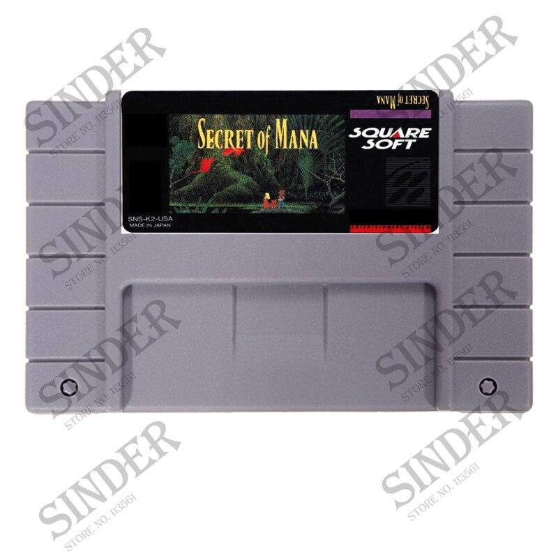 Segreto Di Mana 16 bit Grande Grigio Card Game Per NTSC PAL Giocatore del Gioco