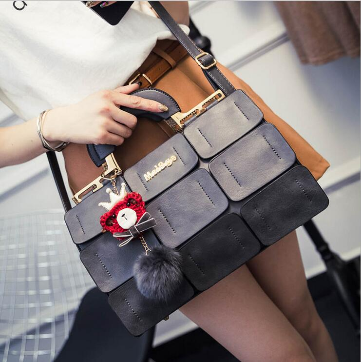 2017 새로운 패션 복고풍 가방 수제 자수 인형 휴대용 싱글 숄더 가방 여성 고양이 가방