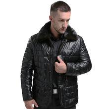 AIBIANOCEL Брендовое пальто из натуральной кожи для мужчин зимнее теплое натуральное кожаное белое пуховое пальто с норковым меховым воротником кожаная куртка Thicke
