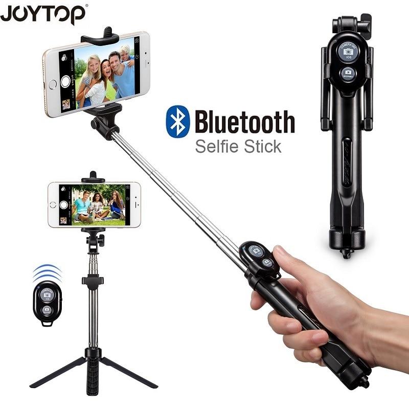 JOYTOP Pieghevole Selfie Bastone Bluetooth Selfie Bastone + Treppiede + Shutter Bluetooth Remote Treppiede per iPhone Android Selfie Spiedi