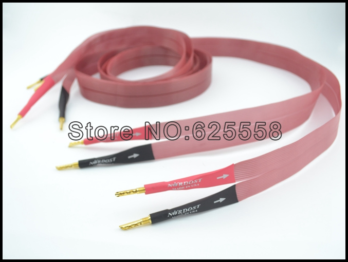 Free Shipping Pair Nordost RCA audio cable withGold Banana plugs interconnect cable Nordost Red Dawn LS Loudspeaker Cable free shipping pair 24 core pair nordost red dawn speaker audio cables diy bfa banana plugs