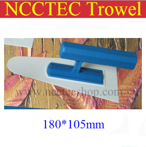 [round Head] Plastic Trowel FREE Shipping | 180*105mm Art Paint Batch Knife Diatom Mud Plastering Trowel Wall Spatula Tool