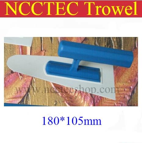 [round Head] Plastic Trowel FREE Shipping | 180*105mm Art Paint Batch Knife Diatom Mud Plastering Trowel Wall Spatula Tool