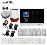 Smartyiba WI FI GSM SMS Главная охранной Охранной Сигнализации Системы детектор движения PIR приложение Управление Сенсор пожарной сигнализации Дете