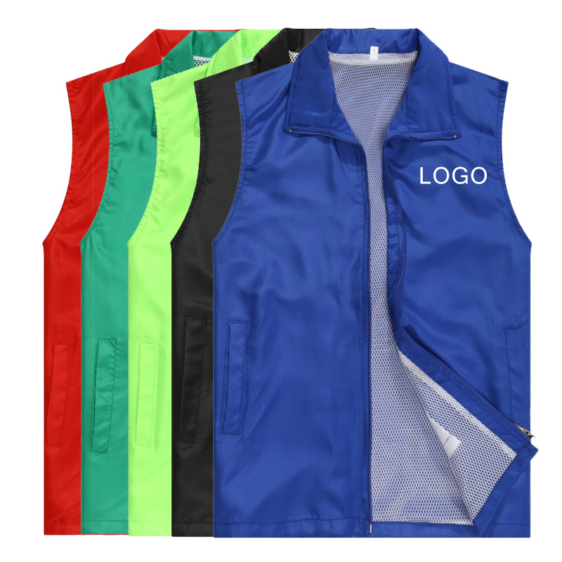 Men's Custom Made Design Vests Photo Print Logo Text Casual Waistcoat For Women Work Clothes Uniforms Outwear Tops