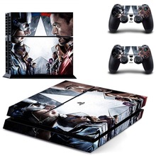 Vinyl Sticker PS4 Skin Decal Sticker For PlayStation4 Console and 2 controller skins – Marvel's The Avengers