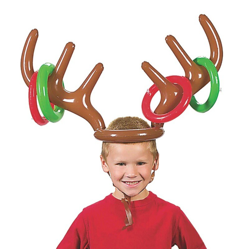 New-Lovely-Childrens-Toys-Deer-Head-Shape-Inflatable-Ring-Games-Inflatable-Toys-Balloons-Ferrule-Toys-Outdoors-Toys-1