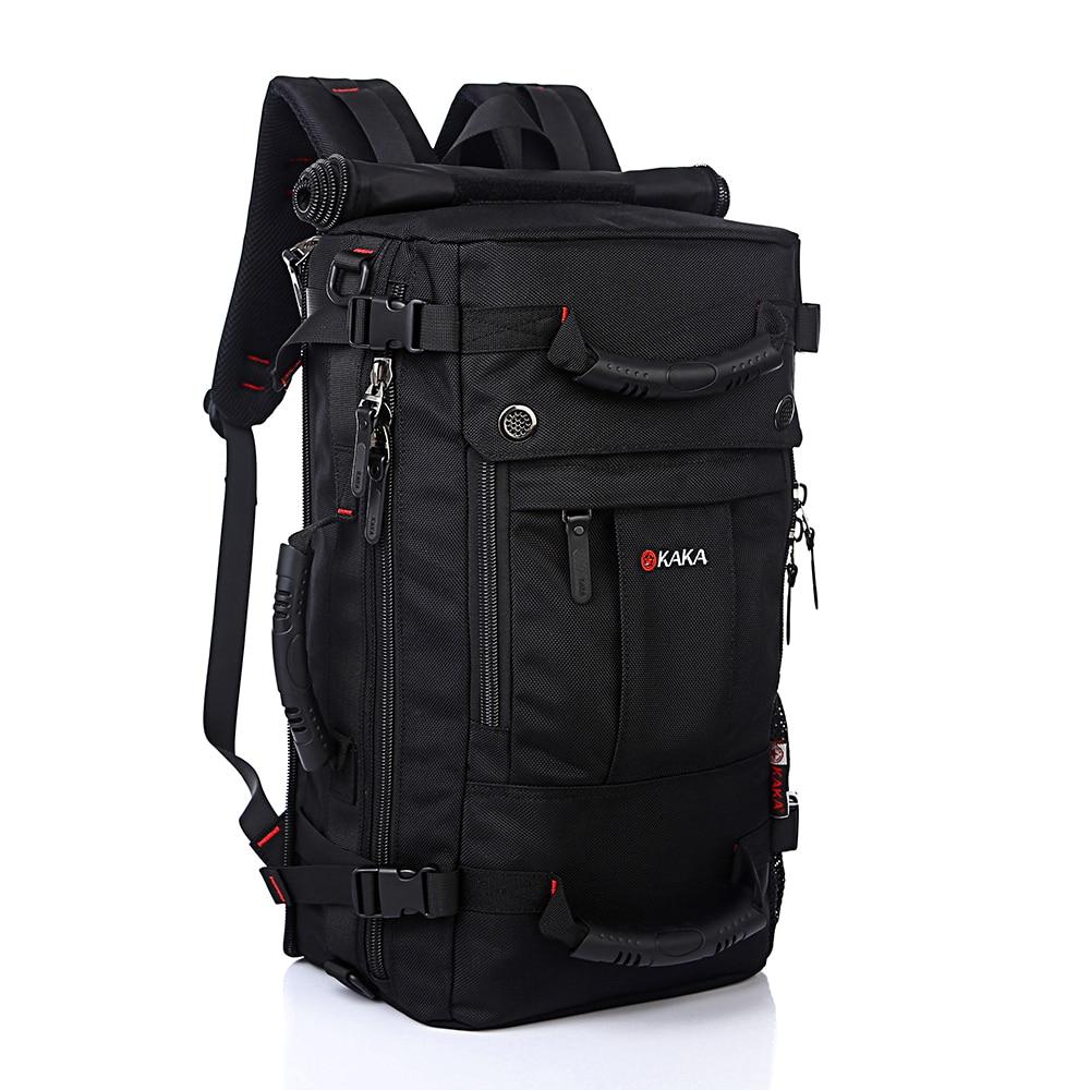 KAKA Fashion Waterproof Travel Backpack Men Black Multifunction Mountaineering Male Backpacks Huge Capacity Luggage Bags