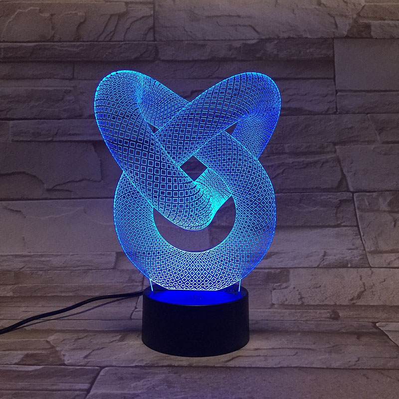 Abstract Shape 3D Lamp LED USB Lamp Touch RGB Colors Changing Table Night Light Bedside Decoration LED Lamp Fashion Creative Led image