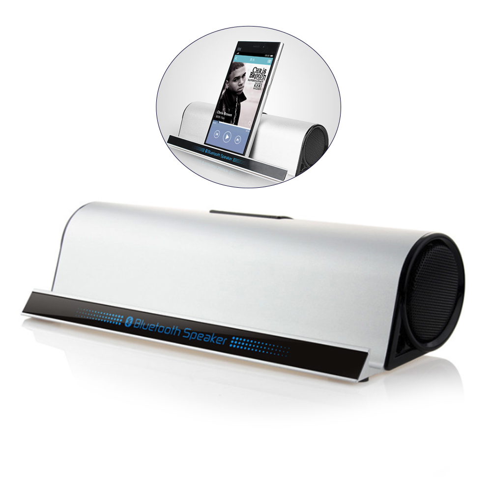 מקרן קיר BT-10 סטריאו סגסוגת Portable Bluetooth רמקול HD בס סאונד אלחוטי אודיו טלפון Tablet Stand מחזיק Bracket High-end טור (1)