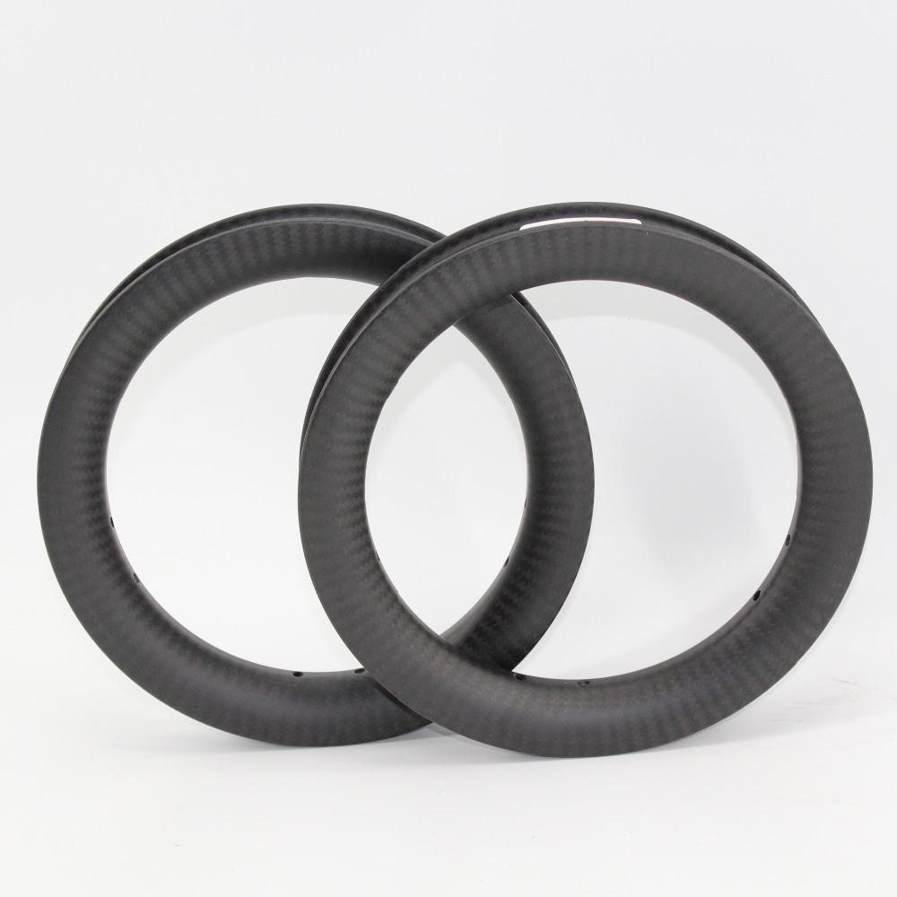 1pair New 12 inch 25mm Slide car scooter push bike matte 3K twill full carbon fibre bicycle wheels clincher rims 12er Free ship