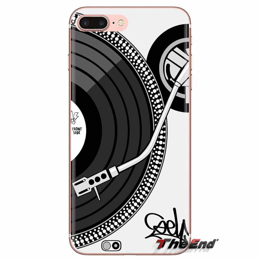 Transparente Macio Cobre Digitais DJ Mixer Turntable Para LG G3 G4 Mini G5 G6 G7 Q6 Q7 Q8 Q9 V10 v20 V30 X Power 2 3 K10 K4 K8 2017