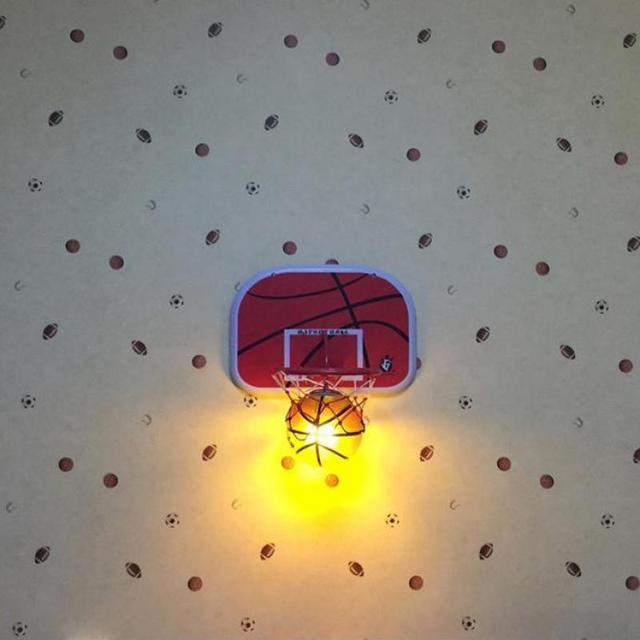 Bar Braun Korb Ball Lampe Glas Wandleuchte Wandleuchte Jugendlich Fans  Schlafzimmer Moderne Net Wandleuchten Nacht LampeE27