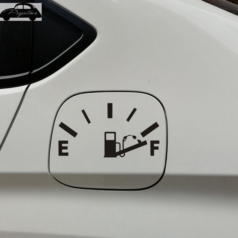 Gas Consumption Vinyl Decal JDM Funny ! Fuel Gauge Empty Gas Tank girl