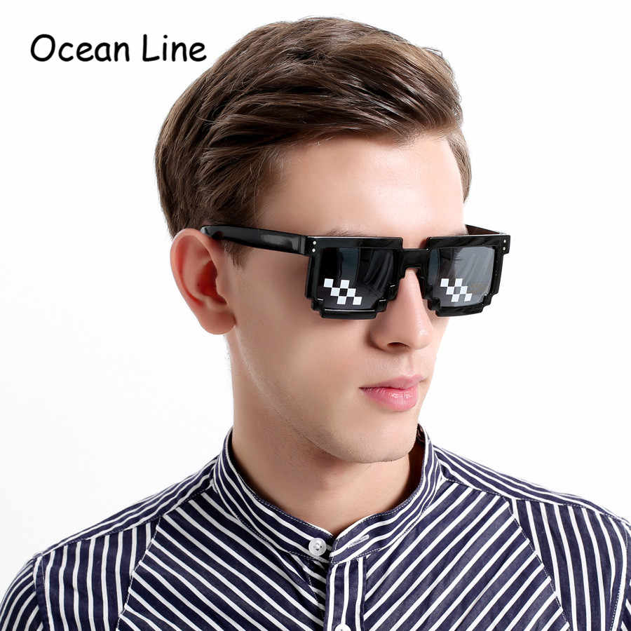 Funny Pixel Retro Sunglasses Pixelated Video Game Glasses