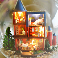 Doll House Furniture Diy Wooden Building Model Toys For Children Birthday Christmas Valentine S Day Gift