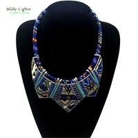 Women Fashion Bohemia Necklace Pendants Modern Hippie Vintage Big Name Choker Necklace Tribal Ethnic Boho Multicolor