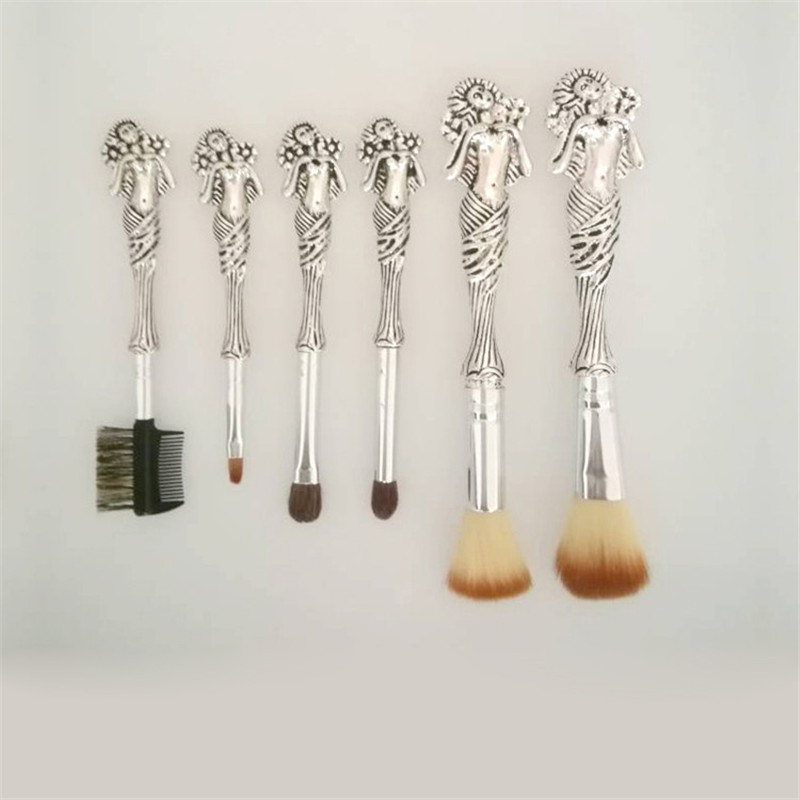 6pcs/Sets Cosmetics Brush Europe And The United States Explosive Harry Potter Series  Free Goddess Makeup Brush Beauty Tools 7pcs sets new europe and the united states selling liquid flash makeup brush set flow flash unicorn makeup brush fantasy mermaid