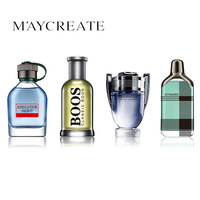 Maycreate 1 مجموعة 4 قطع الرجال عطر دائم البسيطة زجاجة عطر للرجال الذكور مقابل العطور المحمولة المرأة أنثى العطور