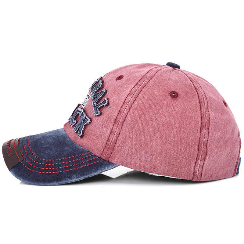 Yeni Retro Yıkanmış Denim beyzbol şapkası Erkek Kadın Pamuk Snapback Baba Şapka Hip Hop Kemik Unisex Rahat Casquette Mektup kamyon şoförü şapkası