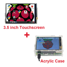 Raspberry Pi 3 Model B 3.5 inch LCD TFT Touch Screen Display +Stylus+ Acrylic Case Compatible Raspberry Pi 2  Free Shipping