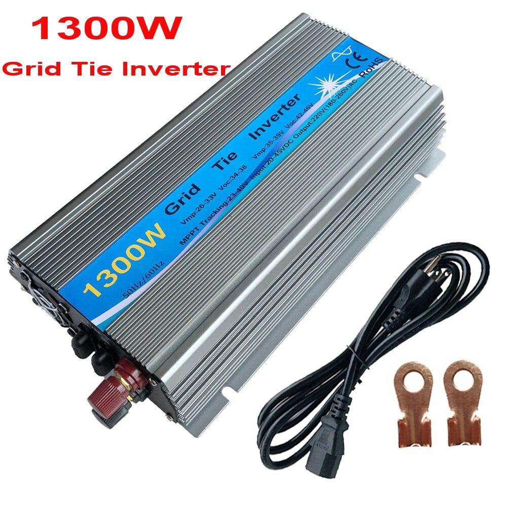 Medium Grid Tie Inverter1000W 1300W  MPPT  24V / 30V  36V Panel  Function Pure Sine Wave 110V 220V Output On Grid Tie Inverter