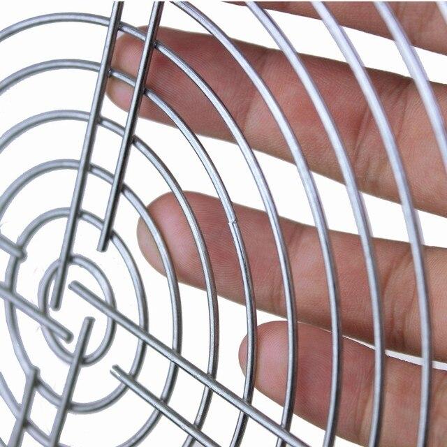 Gdstime 2 pièces 200mm AC ventilateur fer Net 20 cm ventilateur housse de protection filtre ventilateur gril métal garde protecteur anti-poussière Net acier