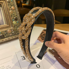 Mode Kristall Perlen Haarband Headwear Madchen Frauen Handgemachte Haar Zubehor Tragen Hoop fur